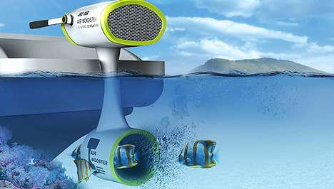 Bladeless Boat Engines - The Air Booster Motor Propels Without Risk of Injuring Fish