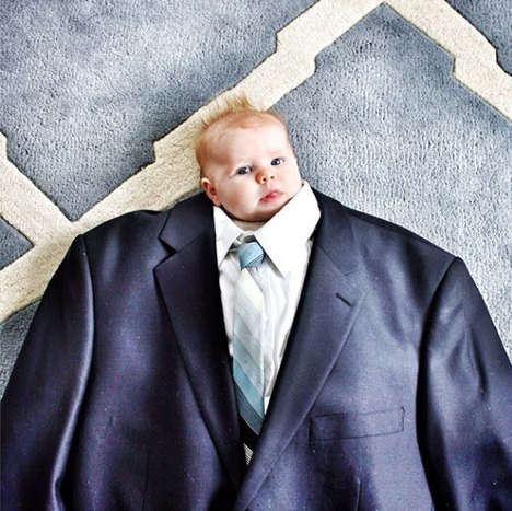 Suited Baby Photography - Mommy Shorts Captures Tots in Grown-up Outfits