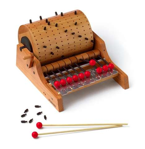 Lo-Tech Music Toys - The Naef Gloggomobil Music Toy is Inspired by the Classic Barrel Organ