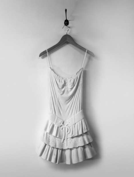 Carved Marble Couture - Artist Alasdair Thomson Sculpts Chic Summer Dresses from Marble