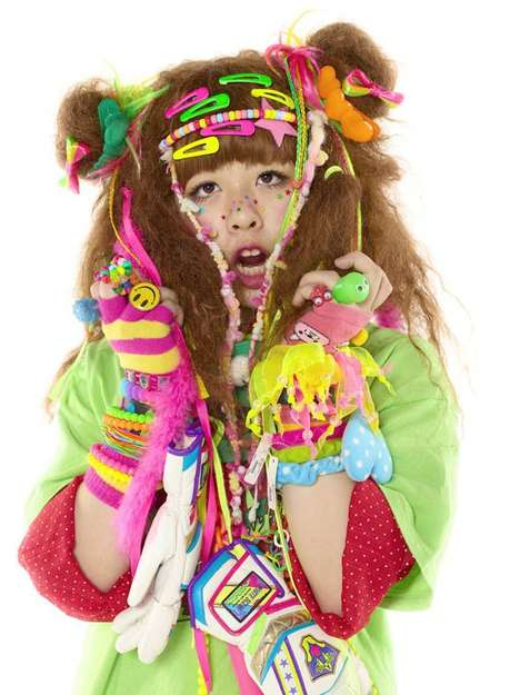 Harajuku Girl Portraits - Tokyo Adorned by Thomas Card Captures Cartoonish Street Styles