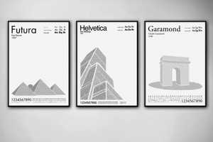 Per Nilsson Turns Letters and Numbers into Famous Buildings