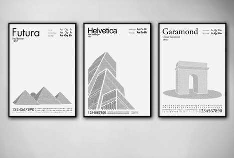 Typography Iconic Landmarks - Per Nilsson Turns Letters and Numbers into Famous Buildings