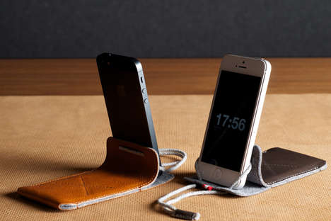 Versatile Leather Phone Stands - Carry Your Phone and Prop it Up with the Draw iPhone Case and Stand