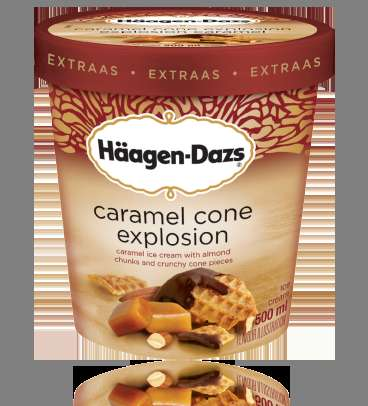Crunchy Hybrid Frozen Desserts - The New Caramel Cone Explosion Häagen-Daz Ice Cream is Delicious