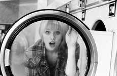 Cheeky Laundromat Photography - This Coin Laundry Photo Series is Playful and Bright