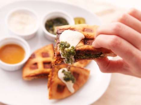 Middle Eastern Waffle Hybrids - The Wafalafel is One of the Most Unique Morning Meal Hybrids