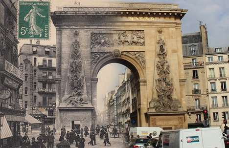 Blended Vintage Parisian Photography - Golem 13 Mixed the Past with Present Day