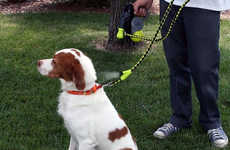 Temperature Control Dog Leashes - This Dog Leash Sprays One Ounce Squirts of Water to Keep Dogs Cool