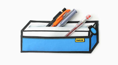 Optical Illusion Pencil Cases - The Fakus Pencil Case Appears 3D
