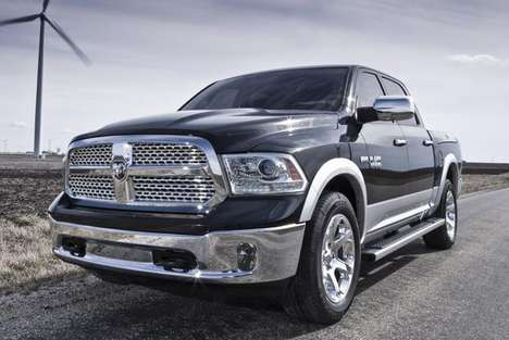 Sleek Fuel-Effecient Pickups - The New 2014 Ram 1500 Pickup is Powerful