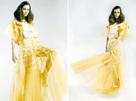 Architecturally Pleated Fashion - Vivien Chong's Hand-Pleated Garments Are Inspired by Art
