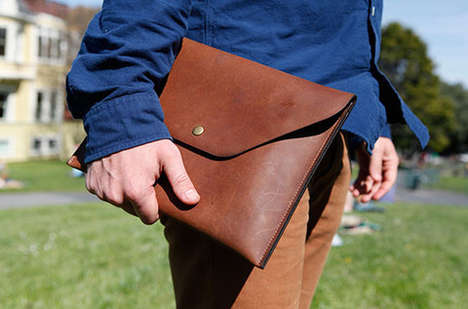 Rugged Leather Device Cases - The DODOcase LeatherCraft Collection is Handsome and Classic