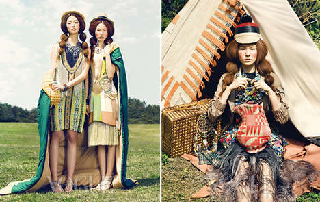 Vogue Vagabond Fashion Ads - The Vogue Korea May 2012 Issue is Based On Bohemian Fashions