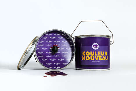 Paint Bucket Wine Packaging - Paint Your Mouth Purple with This Uniquely Packaged Wine