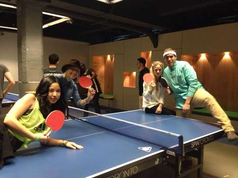 Employee Ping Pong Tournaments - Trend Hunter Got Competitive for its Tournament at SPiN Galactic