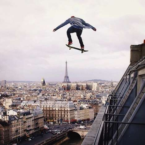 Manipulated Stuntman Photography - Robert Jahns' Alters Pictures to Look Like Stuntman Photography
