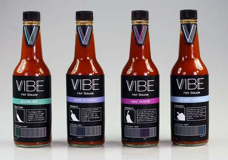 Vibrant Hot Sauce Branding - VIBE Hot Sauce Stands Out with Unexpected Hues