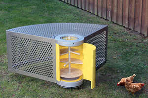 This Hen house by Stacey Kenny Allows for Fresh Backyard Chicken Eggs