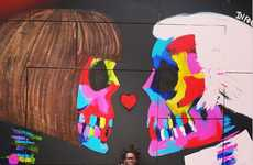 Skeleton Pop Culture Graffiti - Bradley Theodore's Art Icon Graffiti Pieces Boast Boney Structures