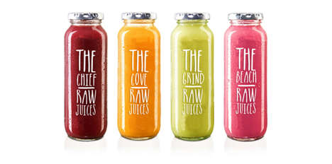 Nutrition-Focused Branding - RAW by Lauren Nicole Foot Uses Text to Highlight Health Benefits