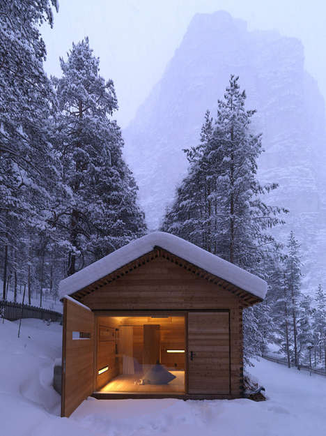 Minimalist Italian Chalets - This Cozy Mountain Cabin Keeps You Safe as You Enjoy the Last of Winter