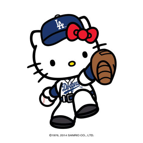Cartoon Kitty Athletic Apparel - The MLB Teams are Adding Hello Kitty Baseball Gear to its Rosters