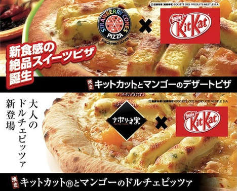 Confusing Dessert Pizza - This Japanese Cafe Makes Kit Kat Pizza