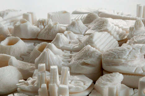 Sculpted Soap Scenes - Artist Peter Root Sculpted Soap to Make This Landscape