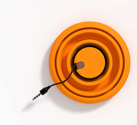 Portable Cable Compartments - The Pop-Up Cord Wrap Neatly Stores Three Wiry Accessories