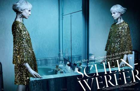 Glam Narcissistic Editorials - The Photoshoot Starring Elisabeth Erm for Vogue Germany is Cold
