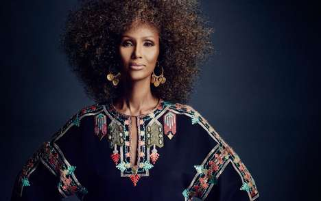 Regal Supermodel Editorials - The SCENE Magazine March 2014 Photoshoot Stars Iman