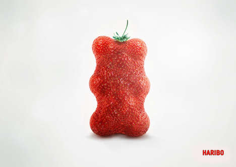 Gummy Bear-Shaped Fruit Ads - The Haribo Gummy Bears Campaign Embraces Healthy Eating