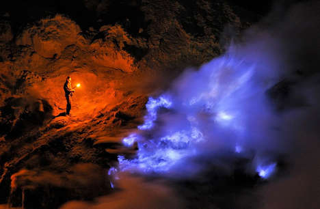 Mesmerizing Volcano Photography - The Kawah Ijen Volcano Flows and Burns with Blue Fire