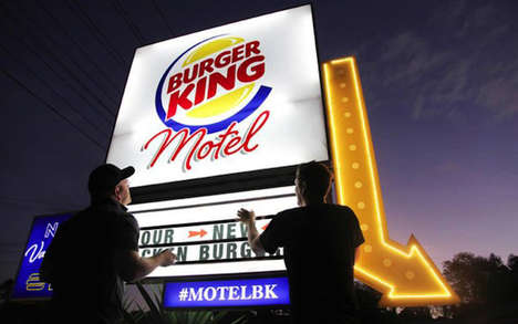 Chicken Burger Motels - The Burger King Motel Allows Chicken Lovers to Cheat on Beef