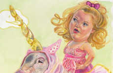 Grotesque Toddler Paintings