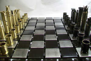 This Chess Set is Made From Real Weapons