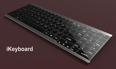 Digital Display Keyboards - The Hotkey Keyboard Displays the Shortcuts for Different Programs