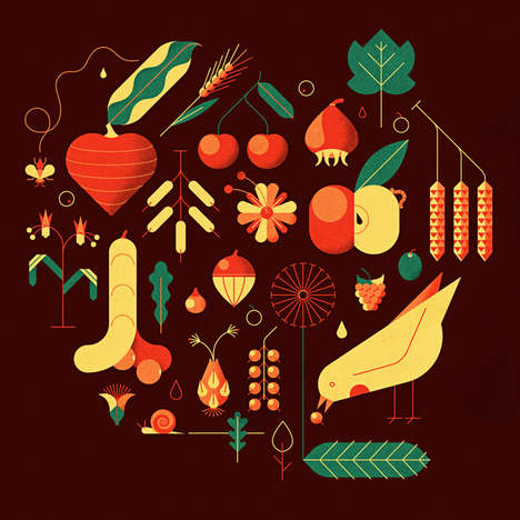 Nature-Inspired Geometric Illustrations - Andrea Manzati