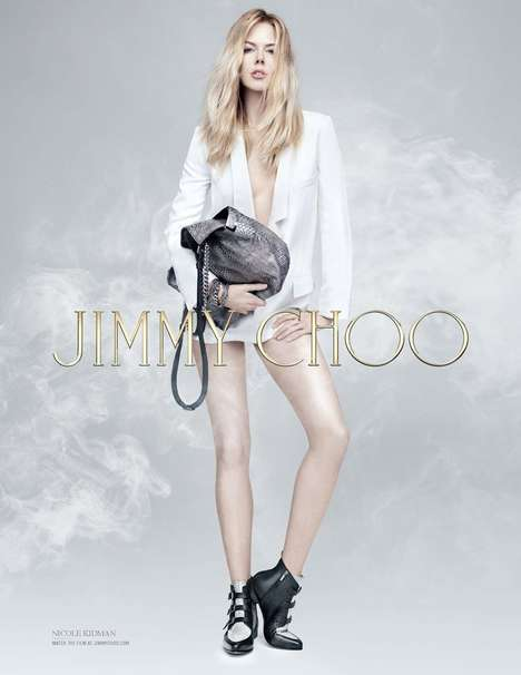 Attitude-Filled Shoe Ads - The Jimmy Choo Pre-Fall 2014 Campaign Stars a Leggy Nicole Kidman