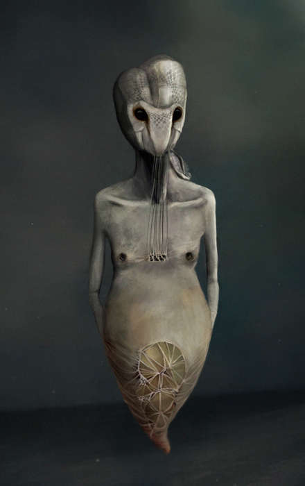 Hauntingly Demonic Paintings - Alicia Martin Lopez Paints Nightmarish Paintings of Galactic Beings