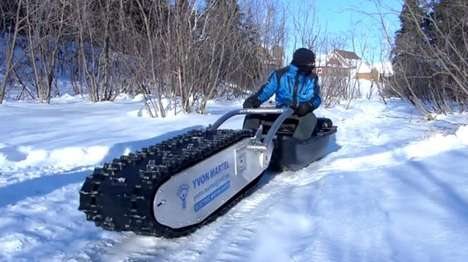 Tank-Like Electric Sleds - Canadian Inventor Yvon Martel Built This Ingenious and Versatile Vehicle