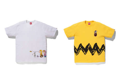 Streetwear Cartoon Collaborations - BAPE x Peanuts Bring Schultz