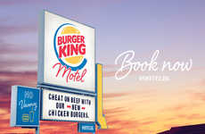 Guilty Fast Food Motels - The BK Motel in New Zealand Encourages Users to Cheat on Beef
