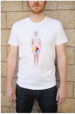 Self-Exposing T-Shirts - These Flesh Printed T-Shirts Expose Your Nude Body in a Clever Way