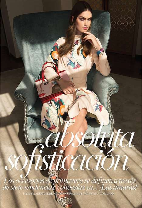 Sophisticatedly Textured Fashion - The Vogue Mexico April 2014 Editorial Stars Model Maria Palm