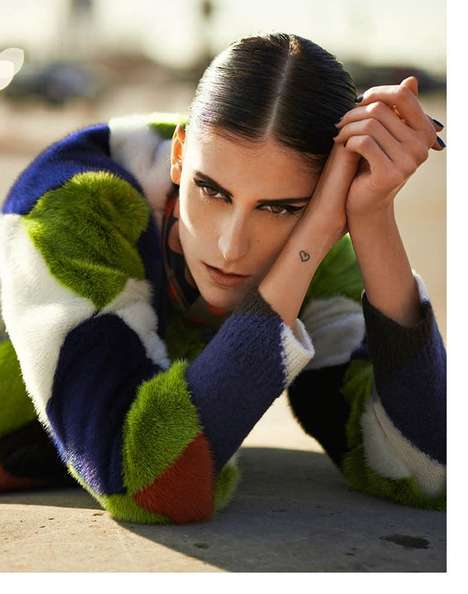 Colorful Graphic Fashion - The Harper's Bazaar Brazil Editorial Stars Daiane Conterato