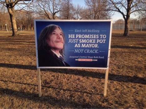 Anti-Mayor Re-Election Stunts - The No Ford Nation Campaign Signs Hopes to Keep Rob Ford Out