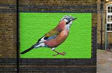 This Street Artist Paints Endangered British Birds in London