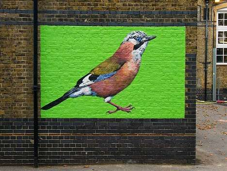 Endangered Avian Murals - This Street Artist Paints Endangered British Birds in London